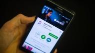 Der Apple-Musikdienst auf einem Smartphone