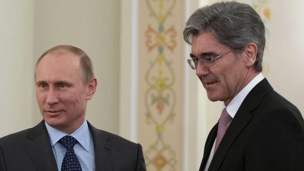 Siemens-Chef verteidigt Treffen mit Putin