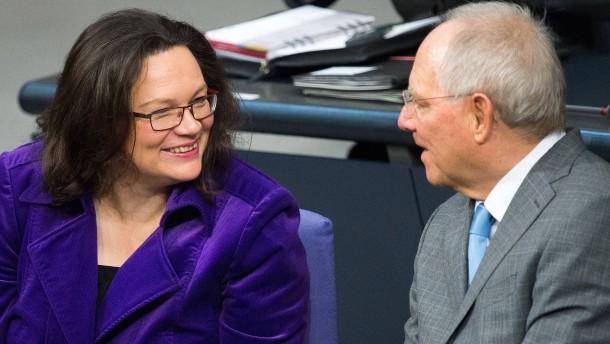 Nahles, Schäuble und die Betriebsrente