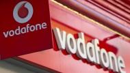 Vodafone-Logo in London