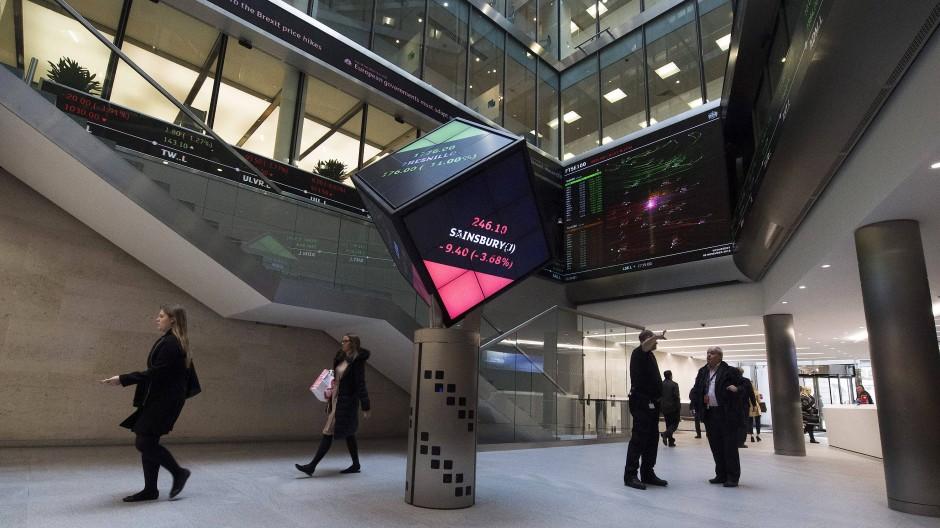 Ein Blick in die Räumlichkeiten der Londoner Börse