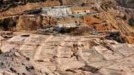 Abbau von Seltenen Erden in einer Mine der Provinz Jiangxi in China.