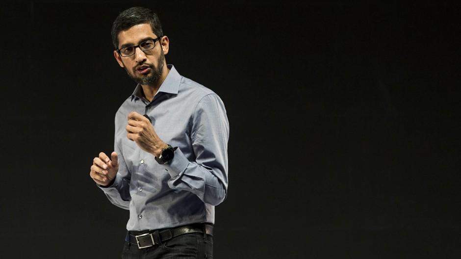 Sundar Pichai führt Google seit dem Jahr 2015.