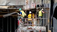 Viel zu tun auf dem Bau: Der deutsche Arbeitsmarkt befindet sich nach wie vor in einer sehr robusten Verfassung.