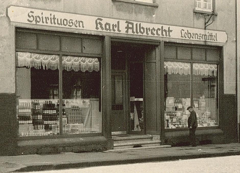 Das Stammhaus von Aldi im Jahr 1930.