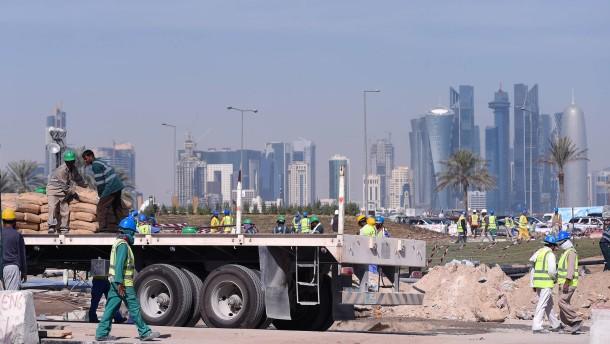Ein Toter am Tag auf Baustellen in Qatar