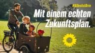 Kommentar zum Grünen-Plakat: Die schöne Welt mit Lastenrad