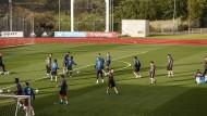 Im Trainingslager der Nationalmannschaft