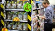 Da gab es das Spiel noch: Auslage in einem Elektronikmarkt in Sydney
