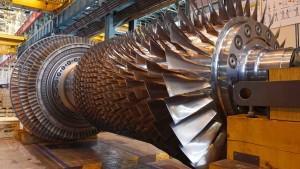 Gasturbine in einem Alstom-Werk in Belfort