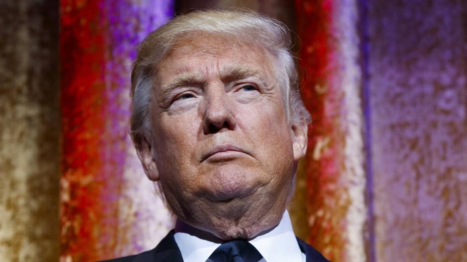 """Donald Trump am Dienstag während des """"Chairman's Global Dinner"""" in Washington."""