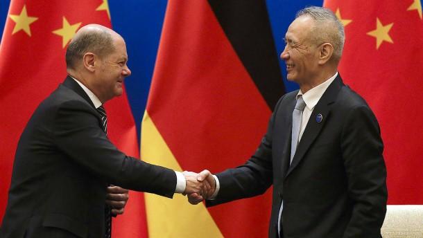 Olaf Scholz in Peking: Deutsche Banken dürfen nach China gehen