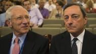 Stanley Fischer (l.) ist heute Vizepräsident der amerikanischen Notenbank, Mario Draghi leitet die EZB.