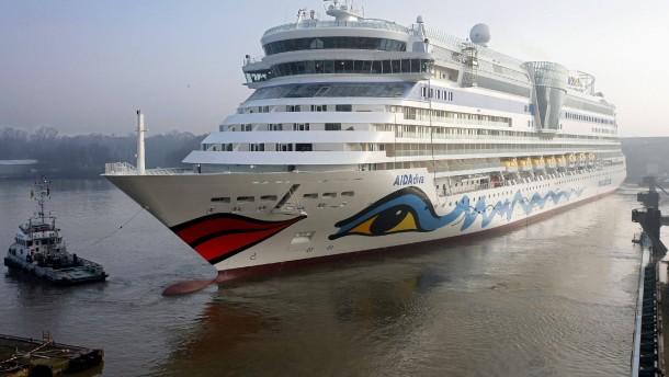 Aida macht ein Schiff chinesisch