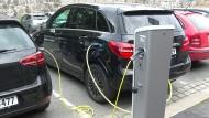 Parkplatz für Elektroautos in Oslo