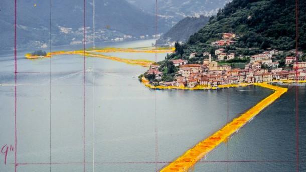 Der Stoff für Christos See-Projekt