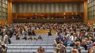 Hörsaal-Trubel vor der Pandemie