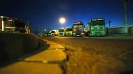 Mindestlohn im Lkw-Transit am Pranger