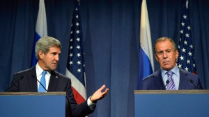 US Secretary of State Kerry meets with Russian Foreign Minister L