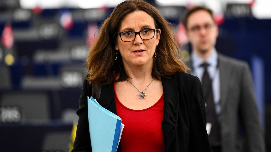Sie streitet für Europa: EU-Handelskommissarin Cecilia Malmström