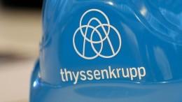 Elliott: Wir wollen keine Zerschlagung von Thyssen-Krupp
