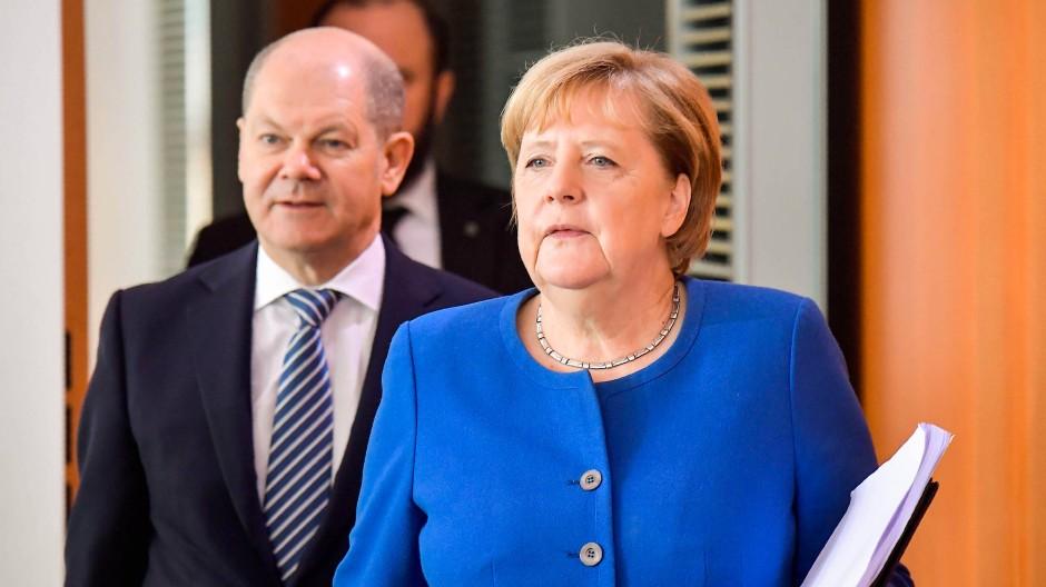 Neuer Ärger: Kanzlerin Angela Merkel (CDU) und ihr Finanzminister Olaf Scholz (SPD)