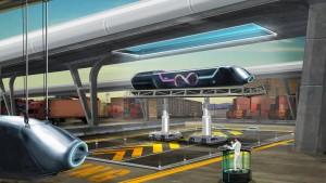 Die Bahn fährt im Hyperloop mit