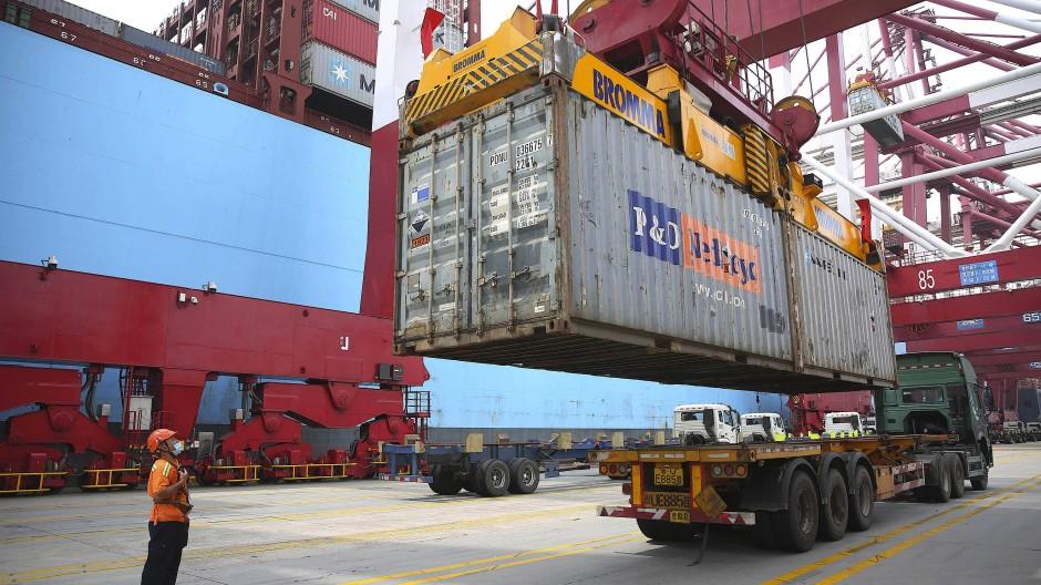 Containerhafen in Qingdao