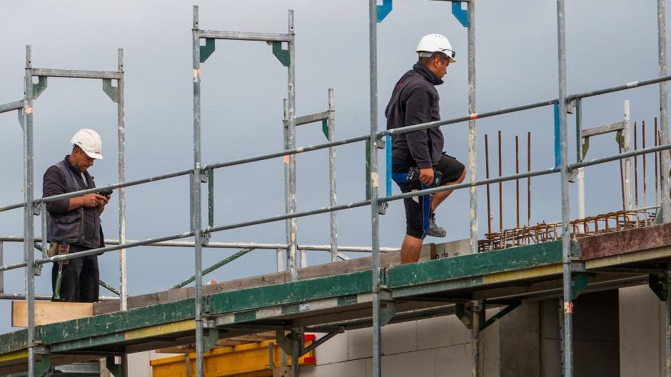 Brennpunkt Bau: Gerade in diesem Bereich wird der Mindestlohn offenbar oft unterlaufen.