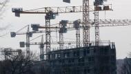 Nicht nur wie hier in Berlin wird gebaut was das Zeug hält.