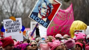 Hunderttausende demonstrieren gegen Präsident Trump