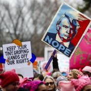 Am Freitag wurde Trump hier vereidigt. Heute ist er wieder auf Washingtons Straßen zu sehen. Die Form dürfte ihm kaum gefallen.
