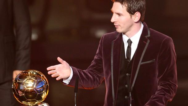 Messi zum dritten Mal Weltfußballer