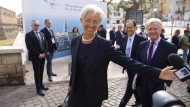 Christine Lagarde am Freitag in Bari