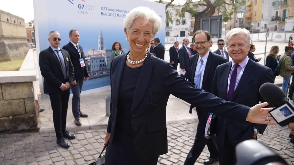 Christine Lagarde am Freitag in Bari