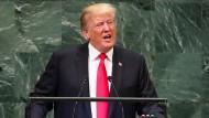Amerikas Präsident Donald Trump am Dienstag vor den Vereinten Nationen in New York.
