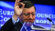 Sein Wechsel zu Goldman Sachs kam in Brüssel nicht gut an: Jose Manuel Barroso, hier noch als Präsident der EU-Kommision während einer Pressekonferenz im Juli 2016.