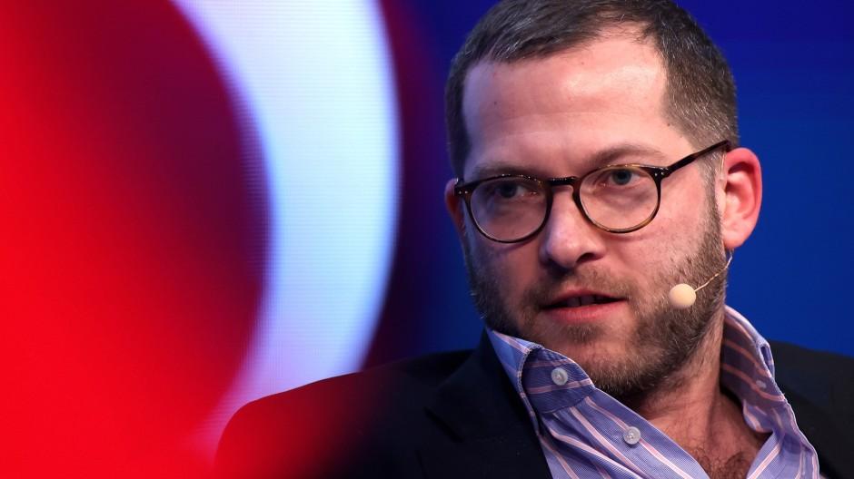 Julian Reichelt am 30. Januar 2020 auf einer Messe in Düsseldorf