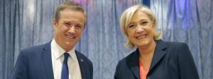 Neue Allianz: Nicolas Dupont-Aignan soll Le Pens Premierminister werden, sollte sie die Stichwahl gewinnen.