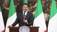 """Kassiert Renzi ein """"Nein"""" bei der anstehenden Abstimmung? Und was würde daraus für Europa folgen?"""