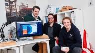 Die Gründer und Geschäftsführer von Penseo, Lennart Wulff , Sebastian Gauck und Morten Hartmann (von links).
