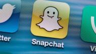 Snapchat-App auf einem Smartphone