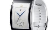 So sieht sie aus: Die Computeruhr Gear S von Samsung