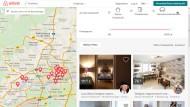Große Auswahl: Frankfurter Angebote auf der Internetseite von Airbnb