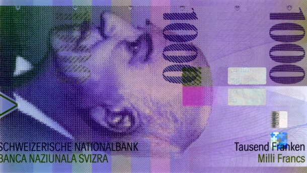 Schweizer Banknote - 1000 Franken