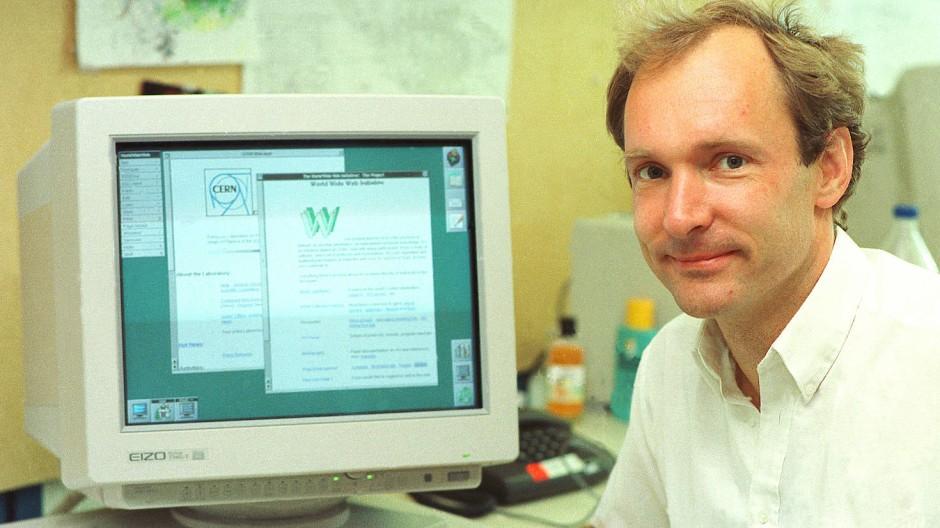 Als das World Wide Web noch in der Wiege war: Tim Berners-Lee am CERN in Genf 1994
