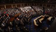 Donald Trump spricht Ende Februar vor dem Kongress