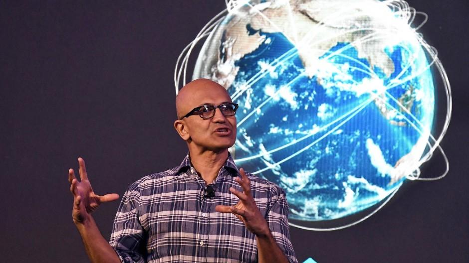 Microsoft-Vorstandschef Satya Nadella im Februar 2020