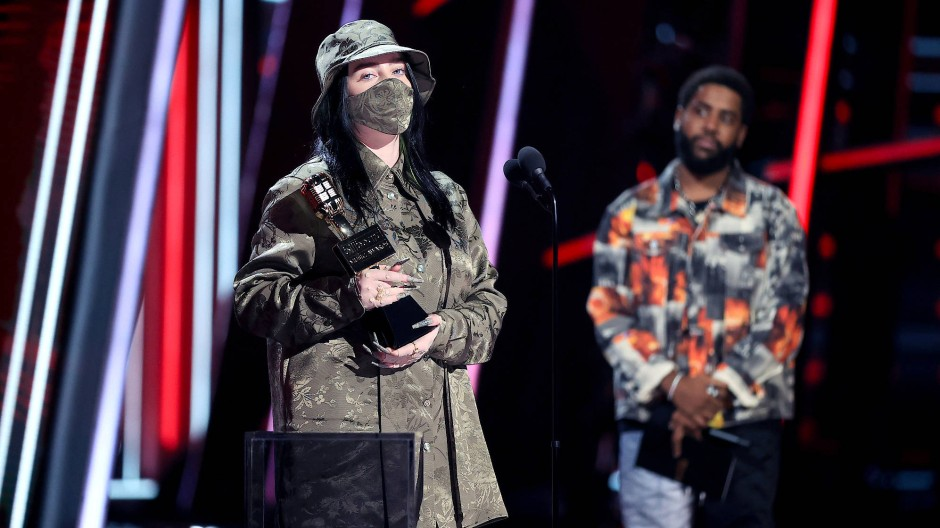 Billie Eilish bei den Billboard Music Awards im Oktober 2020