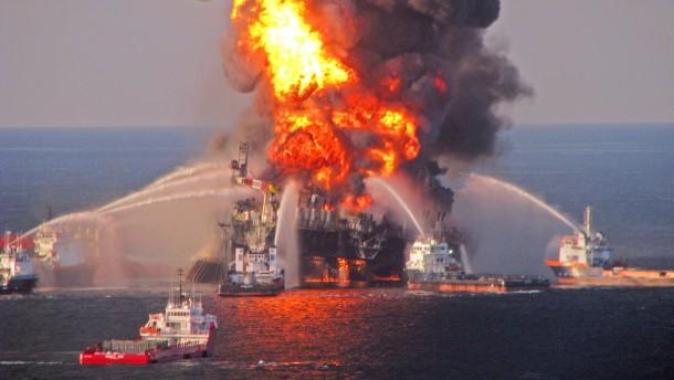 Brennende Ölplattform «Deepwater Horizon»